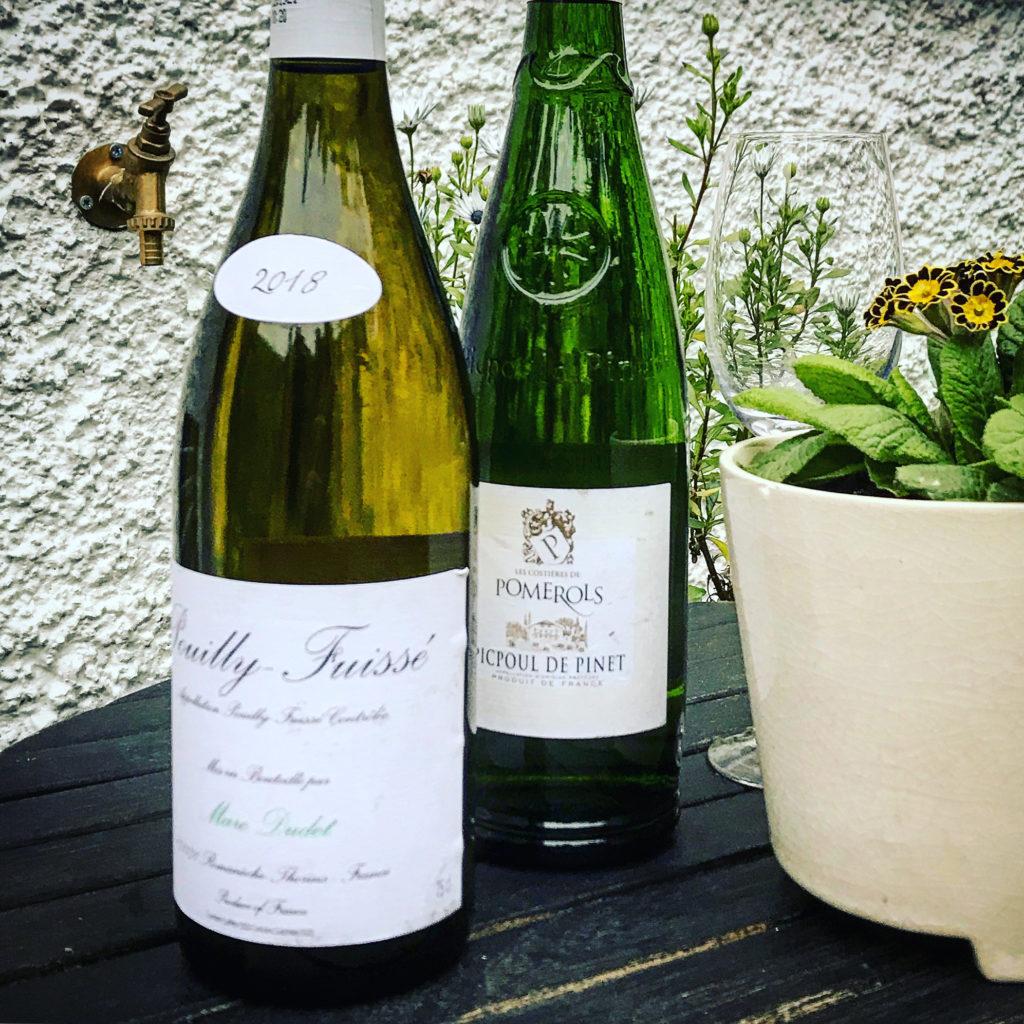 Vårmiddagen blev en vinprovning - Picpoul Pinet samt Pouilly Fuissé